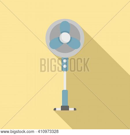 Room Fan Stand Icon. Flat Illustration Of Room Fan Stand Vector Icon For Web Design