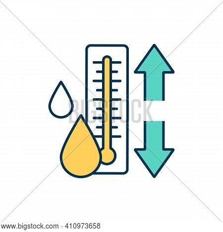 Body Temperature Regulation Rgb Color Icon. Maintaining Homeostasis. Normal Temperature. Human Body