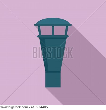 Ventilation Chimney Icon. Flat Illustration Of Ventilation Chimney Vector Icon For Web Design