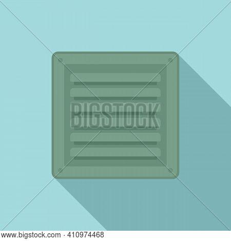 Metal Ventilation Icon. Flat Illustration Of Metal Ventilation Vector Icon For Web Design