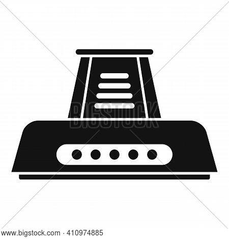 Electric Kitchen Ventilation Icon. Simple Illustration Of Electric Kitchen Ventilation Vector Icon F