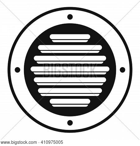 Round Ventilation Icon. Simple Illustration Of Round Ventilation Vector Icon For Web Design Isolated