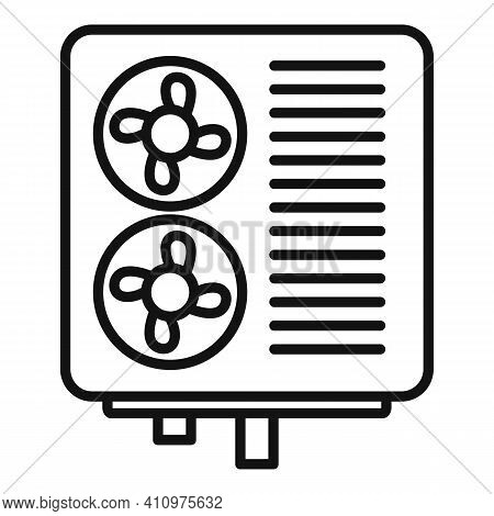 Industrial Ventilation Icon. Outline Industrial Ventilation Vector Icon For Web Design Isolated On W