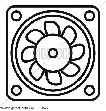 Ventilation Fan Icon. Outline Ventilation Fan Vector Icon For Web Design Isolated On White Backgroun