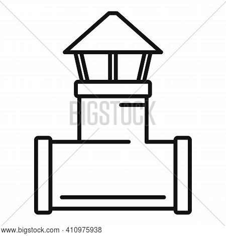Ventilation Pipe Icon. Outline Ventilation Pipe Vector Icon For Web Design Isolated On White Backgro