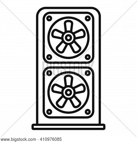 Ventilation Equipment Icon. Outline Ventilation Equipment Vector Icon For Web Design Isolated On Whi