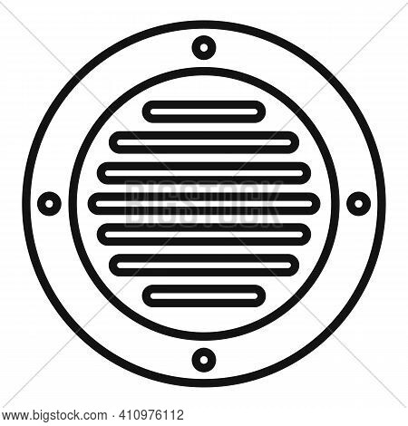 Round Ventilation Icon. Outline Round Ventilation Vector Icon For Web Design Isolated On White Backg