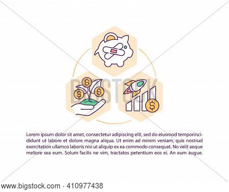 Economic Recovery Concept Icon With Text. Dealing With Covid Pandemia Finance Situation. Ppt Page Ve