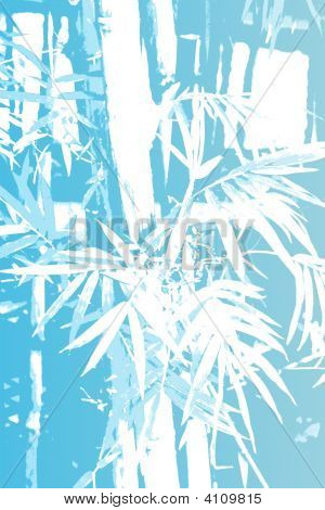 Bamboo Asian Abstract Background Wallpaper in Illustration Form poster