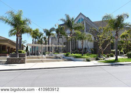 IRVINE, CALIFORNIA - 16 APRIL 2020: Campus at Shepherds Grove Presbyterian Church, lead by Senior Pastor Bobby Schuller.