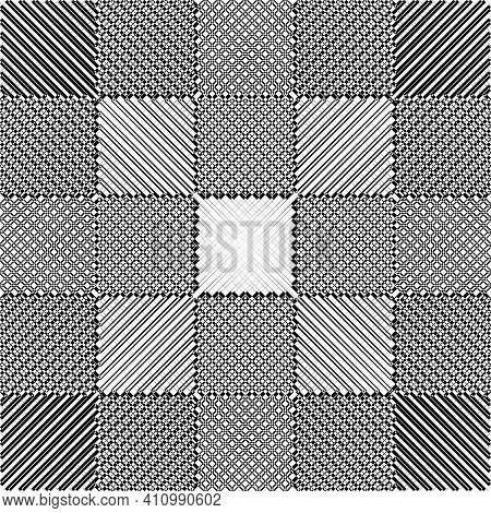 Abstract Tile Project Like Illusion Arabesque Intersections Black On Transparent Background Designer