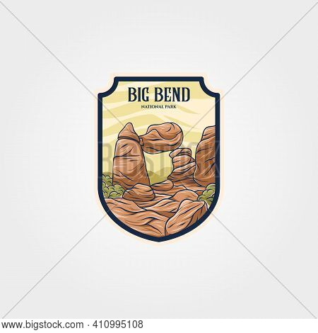 Big Bend National Park Vector Logo Symbol Illustration Design, Travel Logo Collection Design