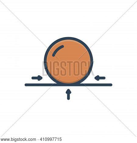 Color Illustration Icon For Surface Circle Sphere Area Expanse Exterior Facade Face Top Bottom Base