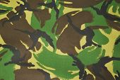 jungle camouflage material from the British armed forces poster