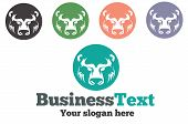 Logo with a bear for your business. poster