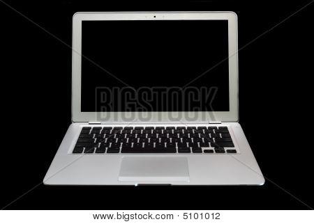 Silver Colored Super-slim Laptop Computer