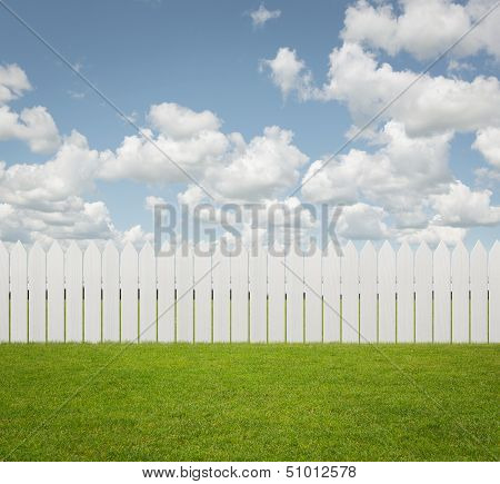 Empty back yard background