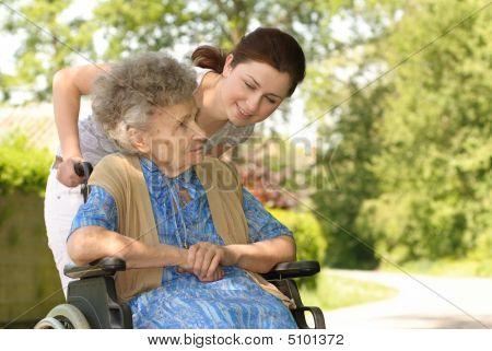 Senior Woman In A Wheelchair