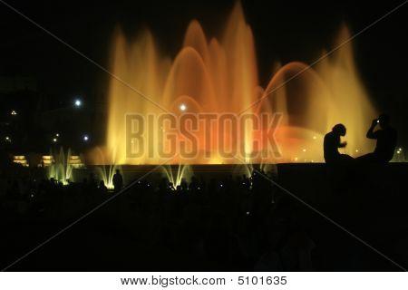 Fountain Of Montjuic In Barcelona #2