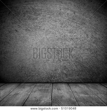 Black Rough Pattern Background with grey floor poster