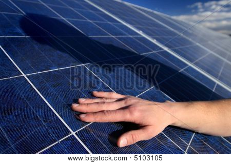 Solar Panel And Shadow