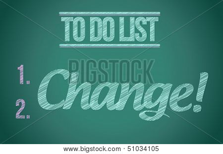 To Do List Change Concept Illustration Design