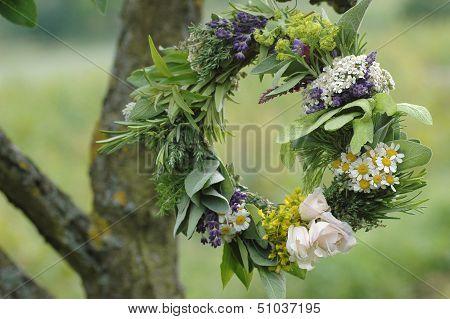 Herb Leaf And Flower Garland