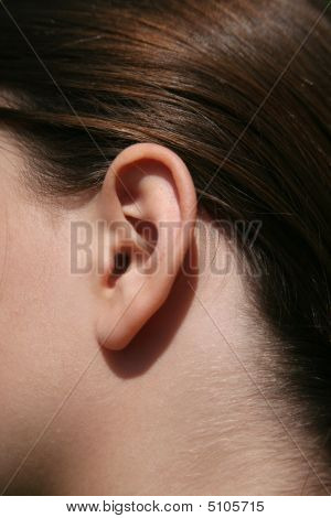 Ear Of A Female Child
