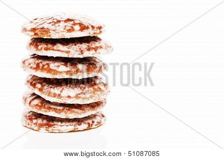 Stack Of Lebkuchen Gingerbread Cookies
