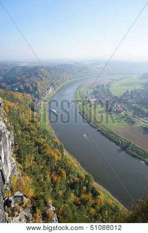 The Upper Elbe valley in Saxony, Germany