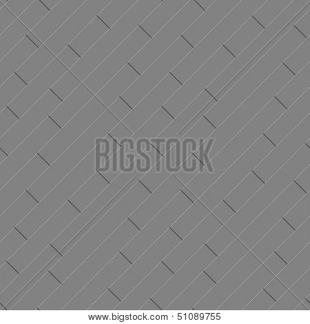 Metallic parquet flooring made of metal scratched blocks diagonally oriented abstract seamless industrial background poster