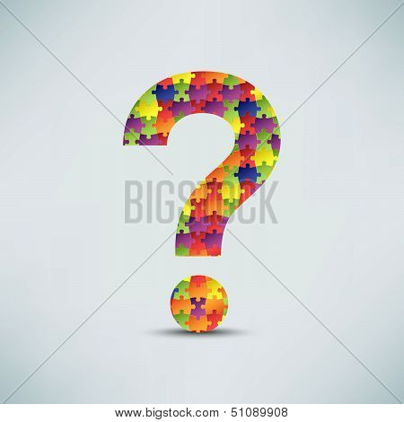 Question mark puzzle background