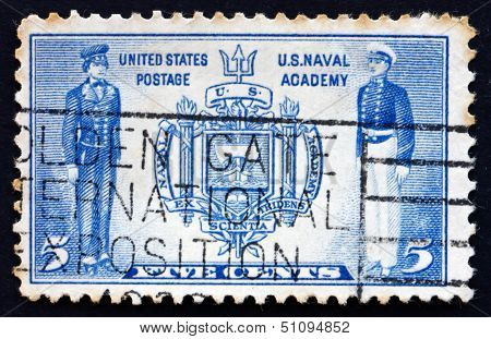 Postage Stamp Usa 1937 Seal Of Us Naval Academy