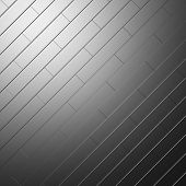Metallic parquet flooring made of metal scratched blocks diagonally oriented abstract industrial background poster