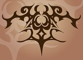 a tattoo like vector element/ background. poster