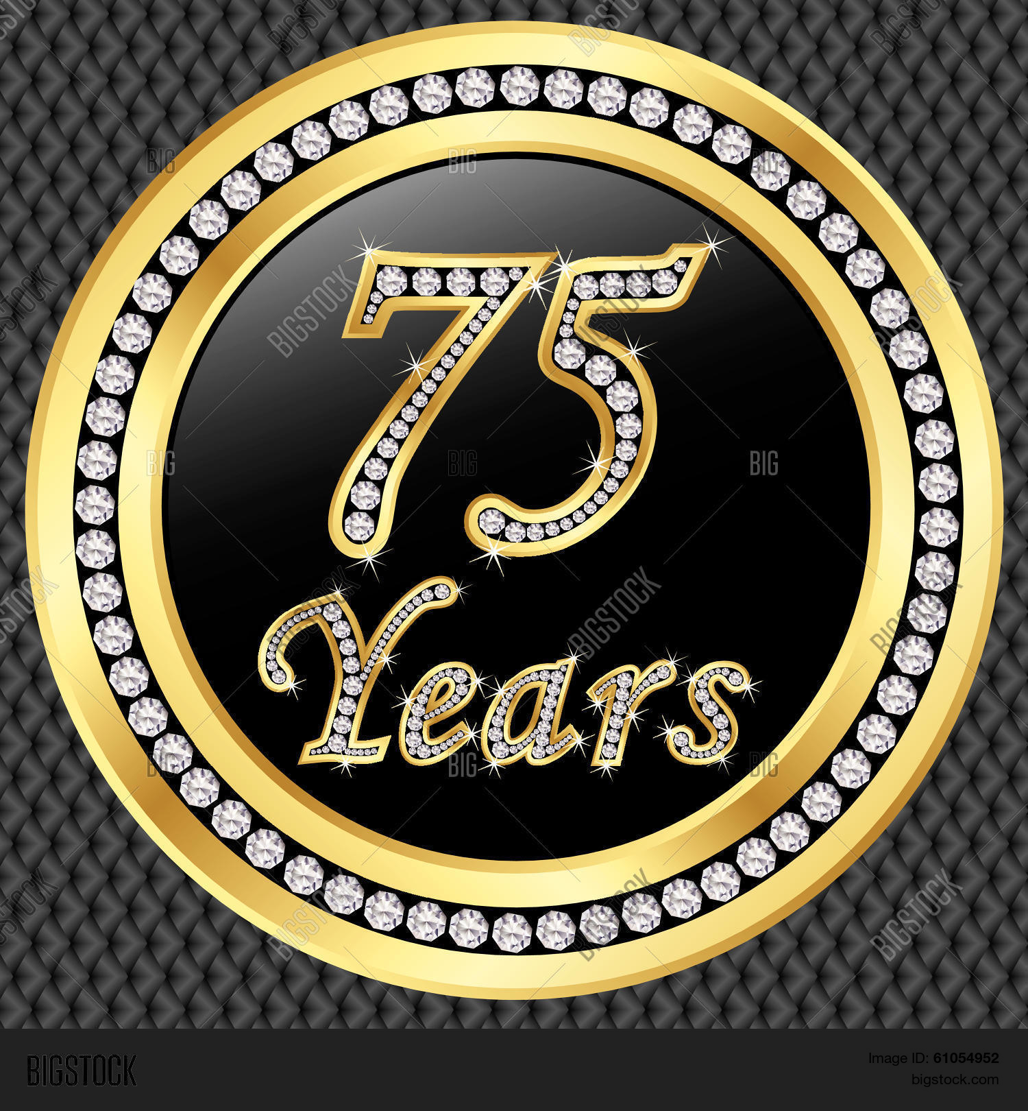 75 years anniversary vector photo free trial bigstock