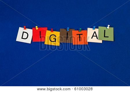 Digital, Sign Series for Computers, Internet and Technology.