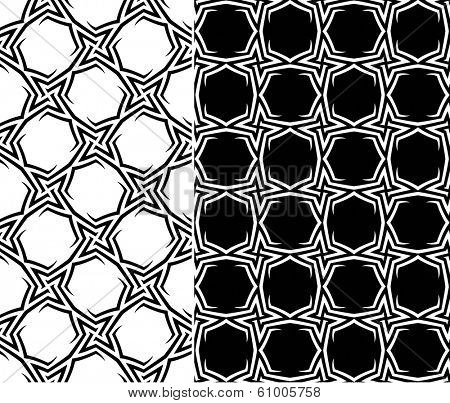 Starry Elements Seamless Pattern. Rasterized Version