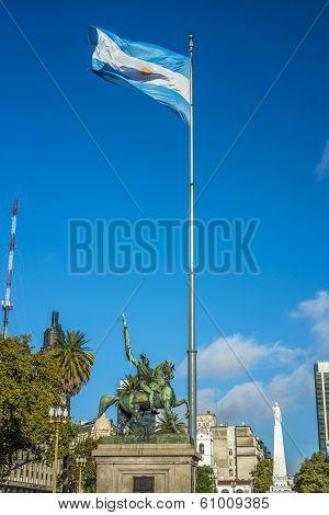 Manuel Belgrano Statue In Buenos Aires, Argentina
