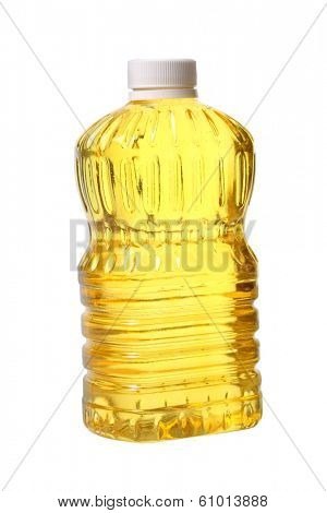 Cooking oil, cutout on white background