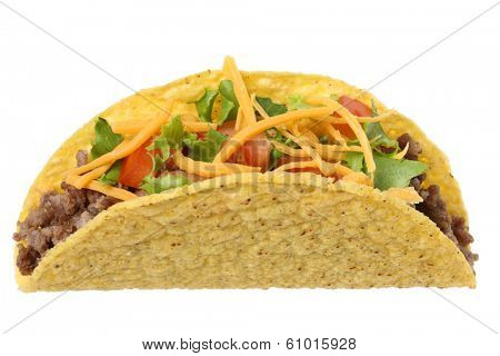 Taco, cutout on white background