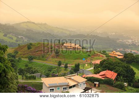 Scenic Brazilian hill resort town