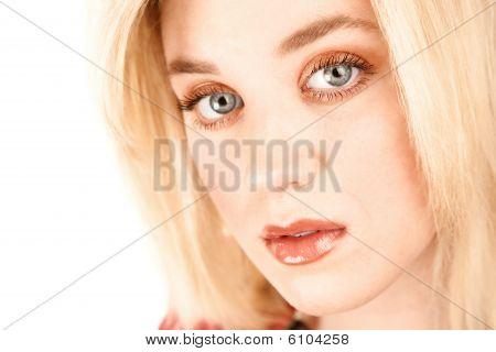 Closeup Of Pretty Young Woman