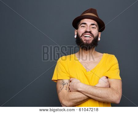 Cheerful Young Man With Beard