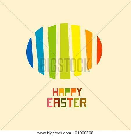 Paper Vector Easter egg, Happy Easter celebration