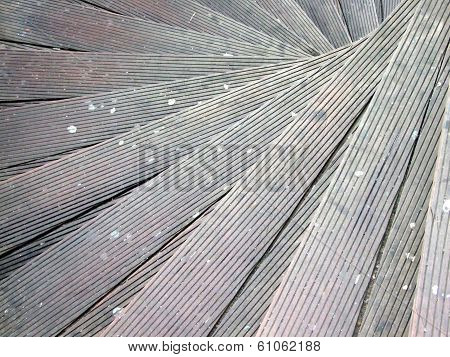 spiral wooden stairs with chewing gum on them poster
