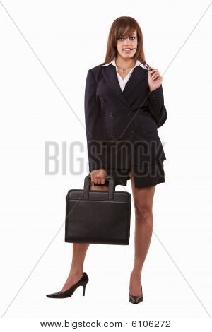 Attractive Twenties Brunette Caucasian Business Woman