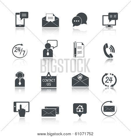 Contact Us Service Icons Set