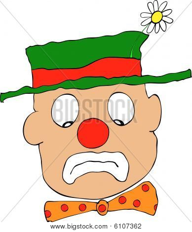 Mournful Clown - Vector