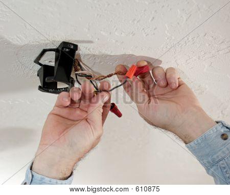 Removing Wirenuts Closeup